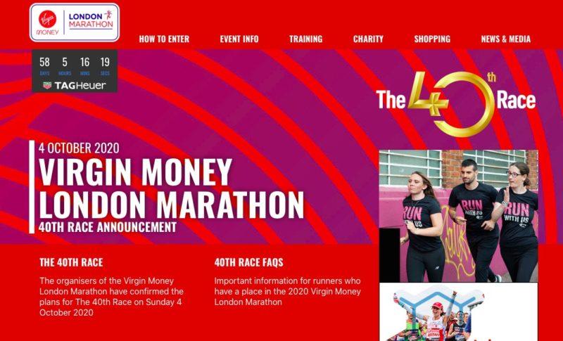 ロンドンマラソン公式サイトよりトップページ