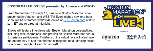 AmazonとWBZ-TVがボストンマラソンライブ
