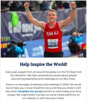 New York Road Runnersからの9月1日のメール