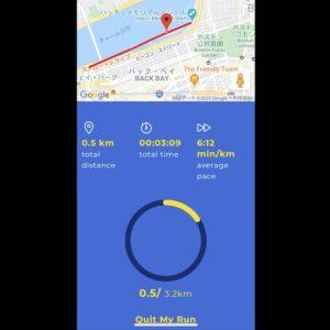 ボストンマラソンアプリのシェイクアウトランにはボストンのコースが表示される