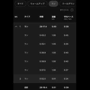 """【5'39""""で5km】ラン部分"""