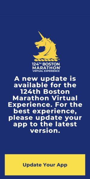 ボストンマラソンバーチャルエクスペリエンスのモバイルアプリをアップデート1