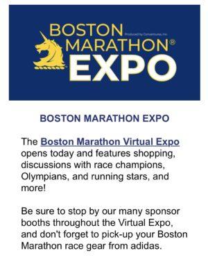 ボストンマラソンバーチャルエキスポ