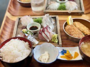 「平塚漁港の食堂」のランチ