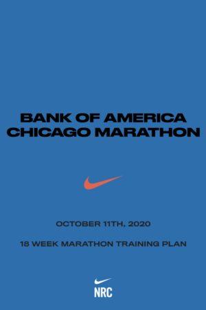 Nikeによって開発された18週間の2020シカゴマラソントレーニングプラン