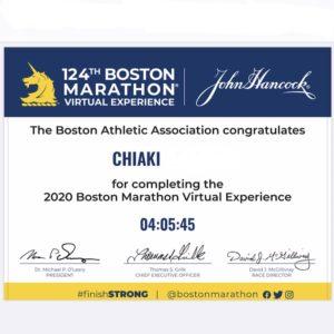 バーチャルボストンマラソンの記録