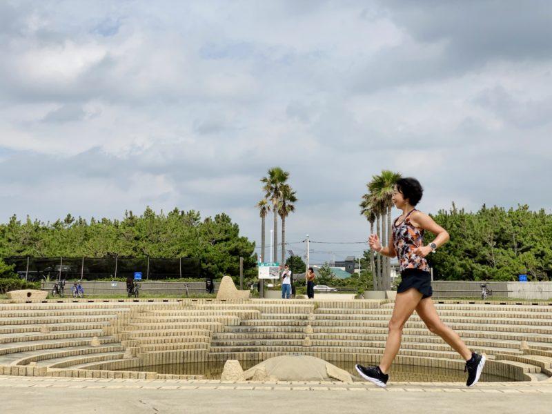 湘南海岸公園の水の広場で