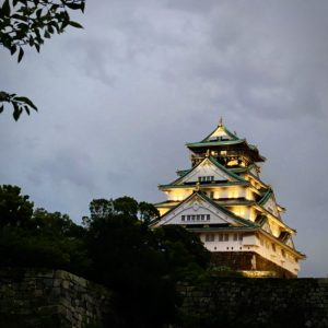 ライトアップされた大阪城