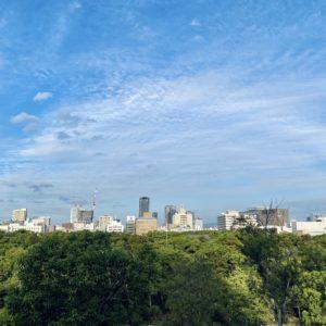 大阪城から見る街並み