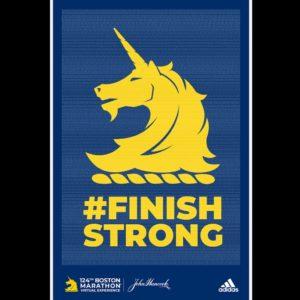 ボストンマラソンのfinishSTRONG POSTER