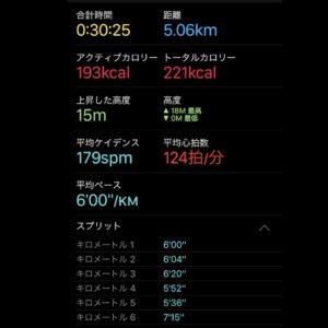 """【30:25リカバリーラン(6'00"""")】"""
