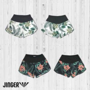 【JINGER】ウィメンズ Botanical・ランニングパンツ