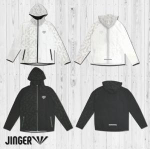【JINGER】フーデッドランニングジャケット【ユニセックスJ-3001/ホワイト】【ユニセックスJ-3001/ブラック】
