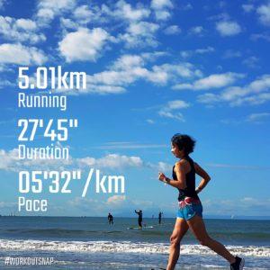 "【5.01km- AYF(VRWC 5km Run)(5'33"")】材木座海岸"