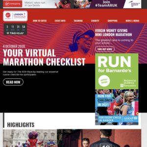 ロンドンマラソンのバーチャルレース