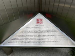 大手町と箱根駅伝のプレート