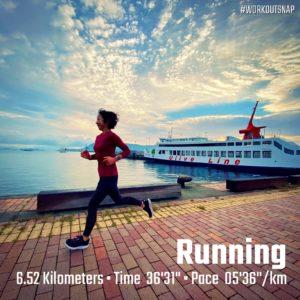"【6.52km - AYF(AbbottWMM5km)(5'36"")】高松港"