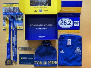 第124回ボストンマラソンバーチャルエクスペリエンスのポストレースパッケージBOXの中身のすべて