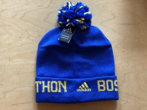 第124回ボストンマラソンのアディダスのニット帽の後ろ側