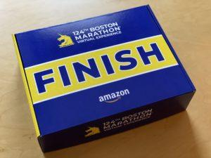 ボストンアスレチック協会から届いた第124回ボストンマラソンバーチャルエクスペリエンスのポストレースパッケージのBOX