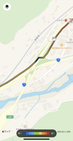 21km過ぎの難ポイントの地図