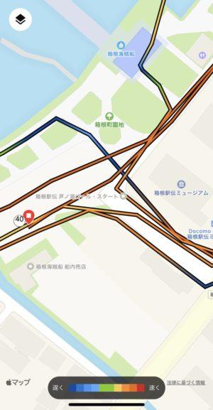 芦ノ湖ゴール地点の地図