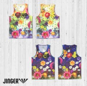 【JINGER】メンズ Blossom・ランニングタンクトップ【JM-4004/YEL】【JM-4004/NVY】