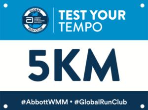 アボットWMMグローバルランクラブの5kmチャレンジビブ