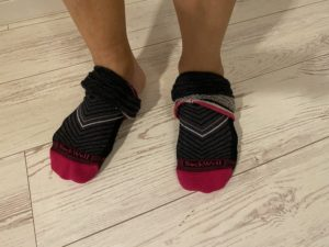 ソックウェル着圧ランニング靴下の脱ぎ方2