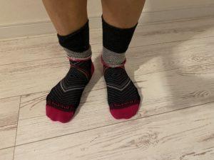 ソックウェル着圧ランニング靴下の脱ぎ方1