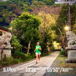 """【4 x1.6km(5'33"""")】五所神社"""