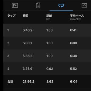 "【3.62km(6'04"")】"