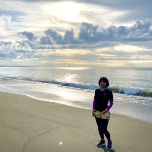 平塚中継所前のビーチ