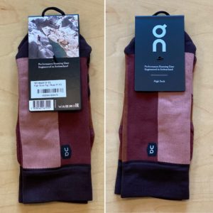 OnのHigh Sock「Fig Rose」XSサイズ到着