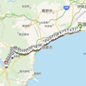ゴール地点のガーミンの記録は39km台