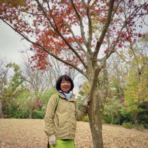 鎌倉散策。源氏山公園にて