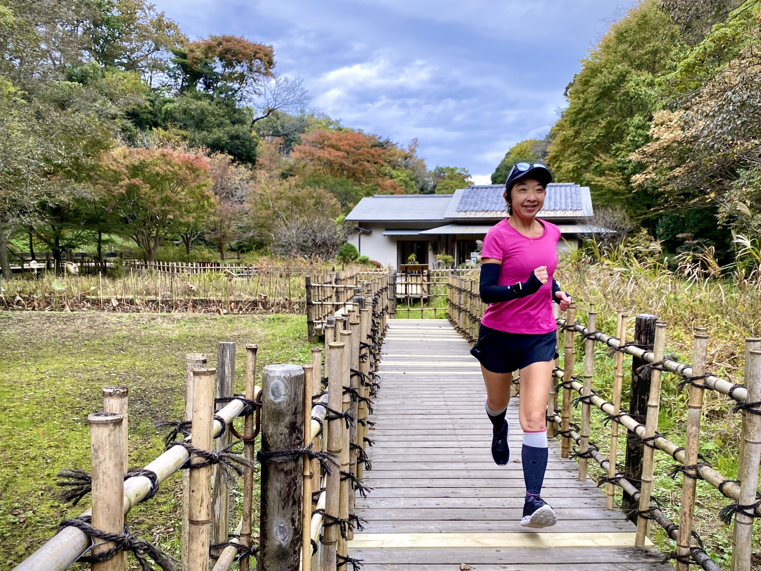 ソックウェル着圧ランニング靴下で鎌倉中央公園ラン