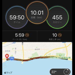 """【5'59""""/kmで10.1km】マップ"""