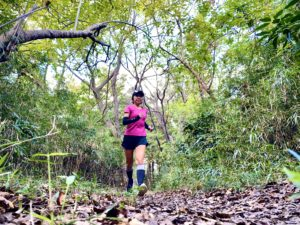 ソックウェル着圧ランニング靴下で鎌倉中央公園でトレイルラン