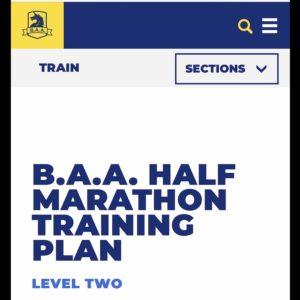ボストンマラソン ハーフマラソントレーニングプランレベル2
