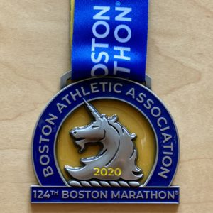 ボストンマラソン ユニコーンのメダル