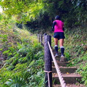 鎌倉中央公園の急階段
