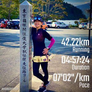"【42.195km - レース(箱根駅伝4・5区) (7'03"")】芦ノ湖"