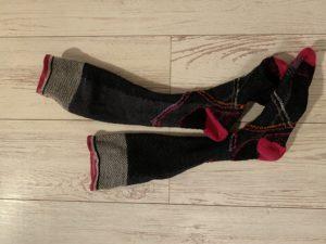 ソックウェル着圧ランニング靴下は裏返したまま洗濯へ