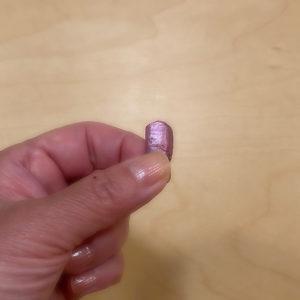 剥がれて取れた左足の親指の爪