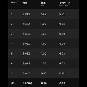 "【6.49km(6'20"")】"