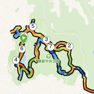 鎌倉中央公園内ぐるぐるトレイルラン