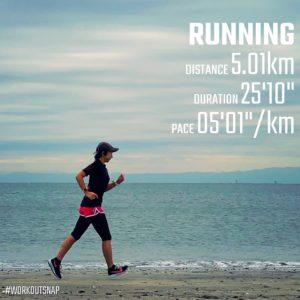 """【5'01""""/kmで5.01km】材木座海岸"""