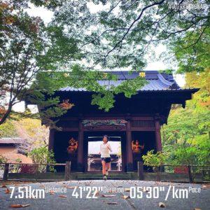 """【5'20""""/kmで6.4km】妙本寺"""