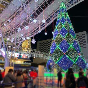 クリスマスムードの博多